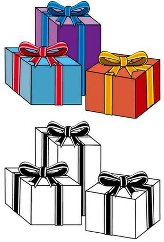 イラストポップの季節の素材   春夏秋冬の行事や風物のイラスト12月2-No20プレゼントの無料ダウンロードページ