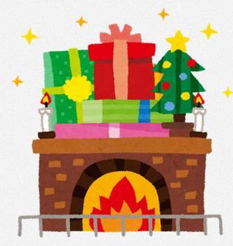 クリスマスのイラスト「暖炉」: 無料イラスト かわいいフリー素材集
