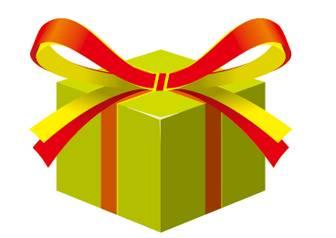 プレゼント箱のイラスト//商用利用・加工利用可能な無料フリーイラストアイコン素材集 -エムスタジオ-