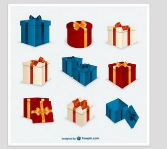 クリスマスプレゼントボックスがパック