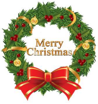 クリスマスリースイラスト 画像フリー素材|無料素材倶楽部
