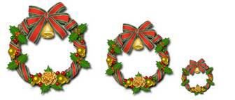 クリスマスのイラスト素材・クリスマスツリー・クリスマスリース
