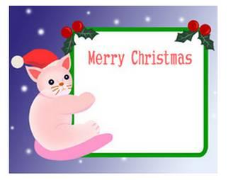 クリスマスのテンプレート