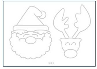 ぬりえ(クリスマス) | 中古車オークション参加事業者のための【ココカラハジメル.com】