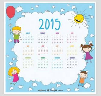 ... な子供たちの2015年カレンダー