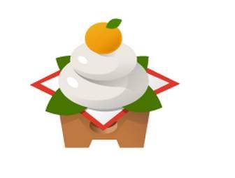 鏡餅イラスト・お正月年賀状イラスト無料素材 フリー素材・イラスト・テンプレート