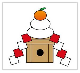 鏡餅のイラスト — POP・イラスト素材 無料ダウンロード