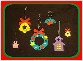 クリスマスの切り紙