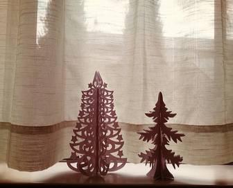 DIY 切り絵用クリスマスツリー 無料型紙 作り方 - ATN LABO