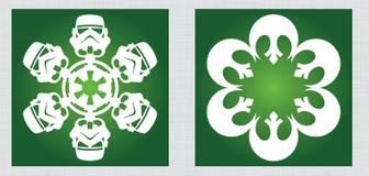 型紙ダウンロード可能!スターウォーズの雪型切り紙飾りを作る方法「DIY Star Wars Snowflakes」 | mifdesign_antenna