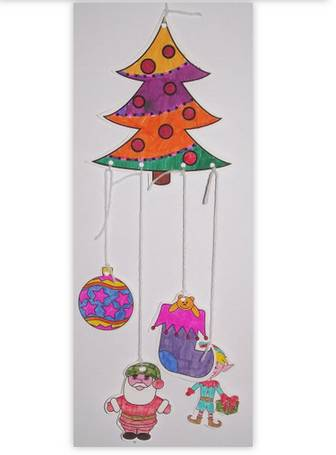 Christmas Colouring Mobile