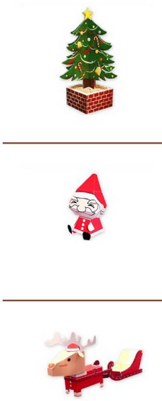 クリスマス ペーパークラフト ...