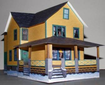 A Christmas Story House Free Paper Model