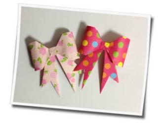 立体的なリボンを折り紙で作ってみた!簡単で可愛い作り方はコレ! | ORIGAMI-FUN【簡単な折り紙の折り方を探すならココ】