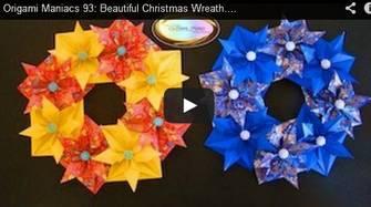 【クリスマス】折り紙8枚で作るクリスマスのリース | 大人の折り紙インテリア