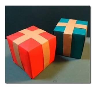折り紙プレゼントボックスの簡単折り方作り方!クリスマスツリーに飾ろう - クリスマス折り紙簡単折り方作り方クリスマス折り紙簡単折り方作り方