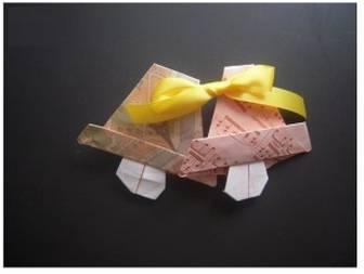 折り紙でクリスマスベルの折り方!ツリーを華やかに!