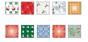 クリスマスの模様を印刷しよう