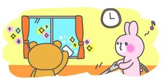 仲良く大掃除 うさぎ&くま イラスト素材【アニメーション】 | 素材GOOD (無料)フリー