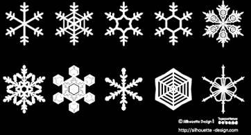 雪の結晶素材 | 商用フリーで使える影絵素材サイト シルエットデザイン