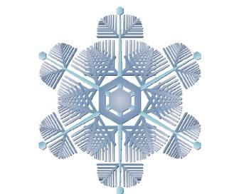雪の結晶イラスト素材とカット集とクリップアート|無料|POP広告イラスト素材集