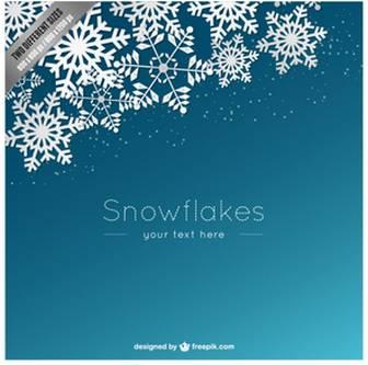 白い雪片と背景テンプレート | 無料でダウンロードするベクトル