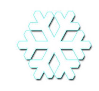 雪の結晶のイラスト素材画像集