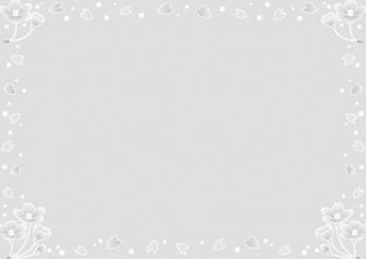 シロツメクサとさくらの季節の飾り枠-春のフレーム-無料ビジネスイラスト素材のビジソザ