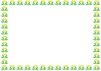 季節の花の飾り枠-春-イラストポップ