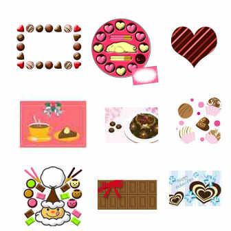 イラスト無料 「チョコレート」のイラスト素材