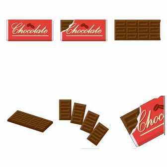 チョコレートのイラスト|イラスト素材の素材ダス