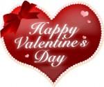 ハートのバレンタイン文字