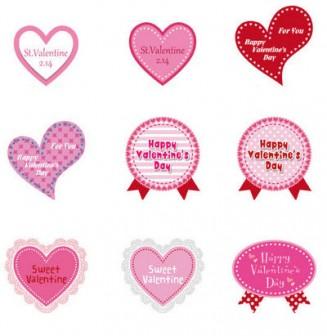 綺麗でかわいいシールにもバレンタイン文字