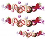 いちごチョコにバレンタインデーの文字