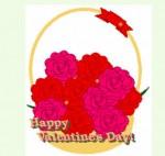 花かごにバレンタインの文字