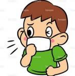 風邪,かぜ,病気,ばい菌,マスク,人物,のイラスト