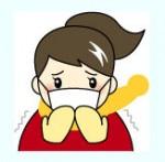 風邪を引いた女の人の画像素材1