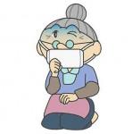 風邪をひくおばあちゃんイラスト