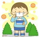 花粉症・アレルギーの子供のイラス