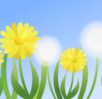 Inkscapeで作成したタンポポのイラスト
