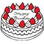 いちごケーキのイラスト