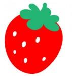 POPな苺のイラストAI EPSあり