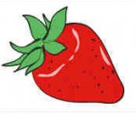 イチゴ/苺のフリークリップアート素材