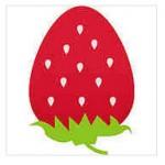 丸くて真っ赤な苺イラスト