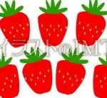 沢山のイチゴが並んだイラスト
