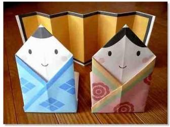 折り紙ひな人形の紙をダウンロード・印刷