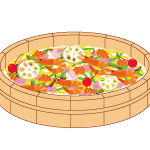 散らし寿司のイラスト