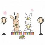 ひな祭りのイラスト・絵カード