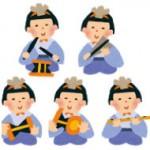 かわいい五人囃子のイラスト