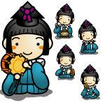 五人囃子 (ひな祭り) の無料イラスト